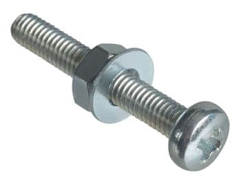 Machine Screw Pozi Compatible Pan Head ZP M3 x 20mm Forge Pack 20
